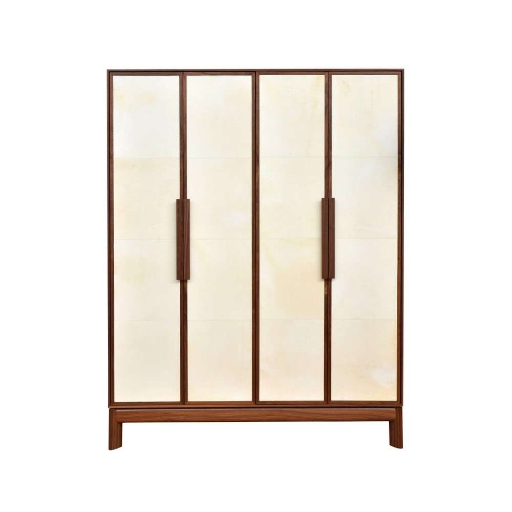 Барный шкаф Vermeil Stal Bar Cabinet Contemporary Style Walnut & Parchment