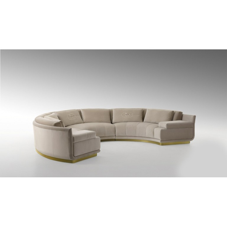 Диван, стиль арт-деко, дизайн Fendi Casa, модель Artu Round Sectional sofa