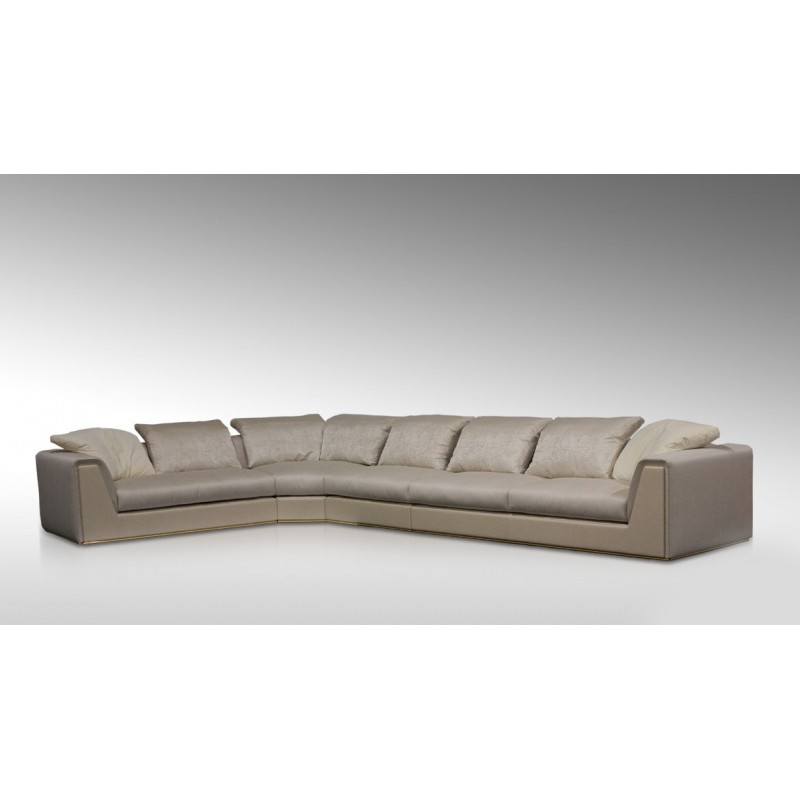 Диван, стиль арт-деко, дизайн Fendi Casa, модель Prestige Sectional Sofa