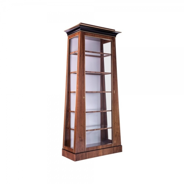 Барный шкаф Biedermeier Style ètagerè, Glass Front Cabinet with Adjustable Shelving