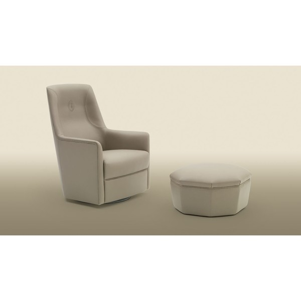 Кресло Albora Armchair and Ottoman, дизайн Trussardi Casa