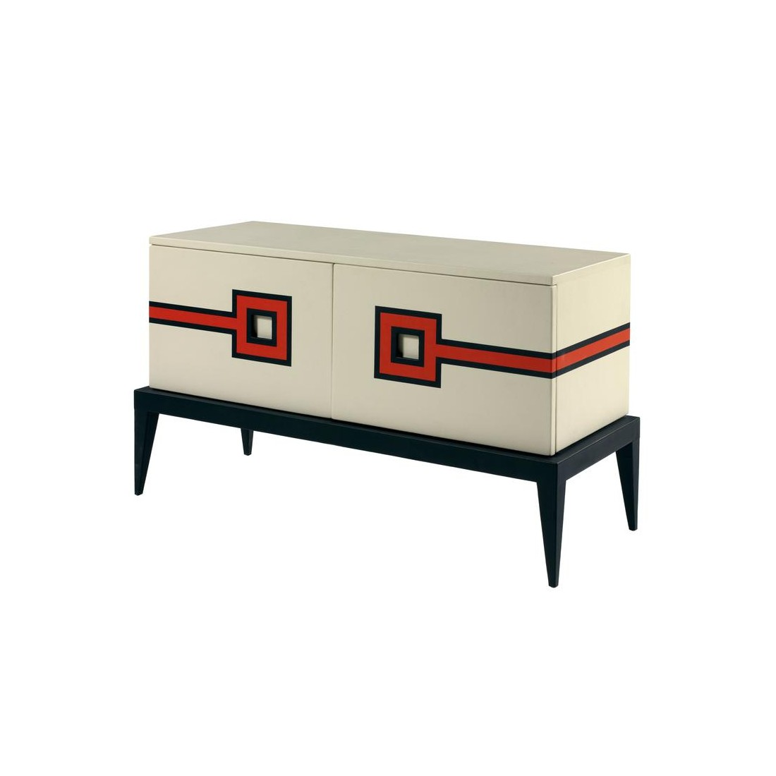 Буфет Coup d Oeuil Buffet in Leather Marquetry by Aymeric Lefort