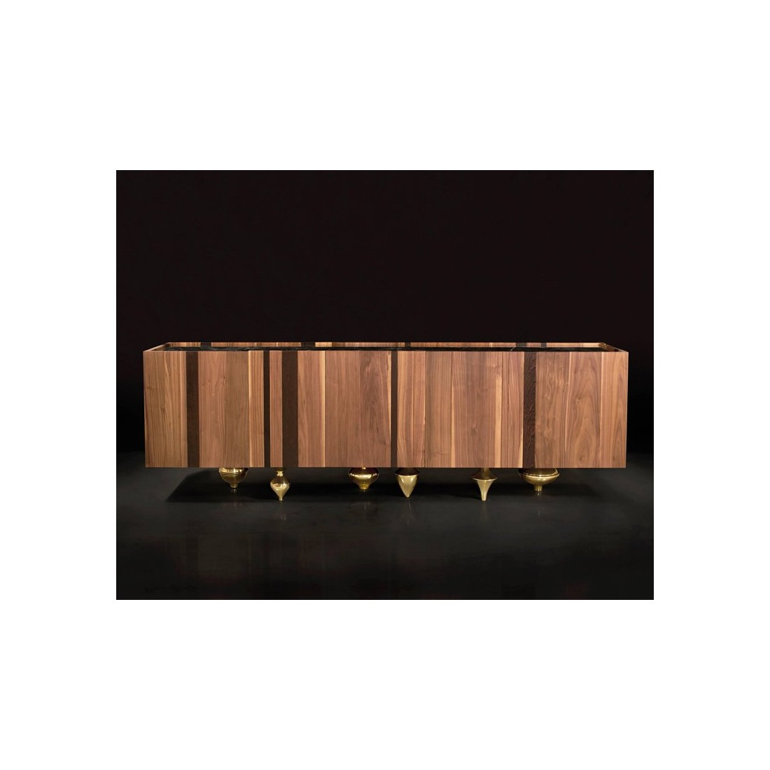 Буфет Il Pezzo 1 Credenza modern buffet in solid walnut and wenge with marble top